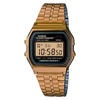 Casio A159wgea 1Ef Unisex Core Classic Digital Chronograph Stainless Steel Watch Gold