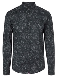 Pretty Green Paisley Print Shirt Navy
