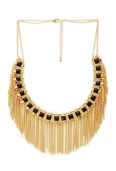 Forever 21 Cascading Chain Faux Stone Bib Necklace