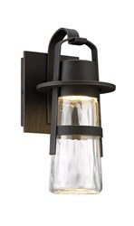 Modern Forms Balthus Indoor Outdoor Wall Light Small 14 Inch Height Oil Rubbed Bronze Black