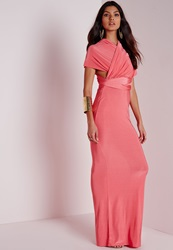Missguided Do Me Any Way Multiway Maxi Dress Pink Pink