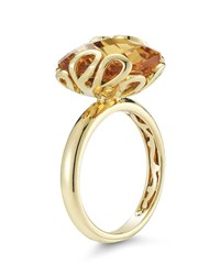 Miseno 18K Gold Sea Leaf Citrine Ring