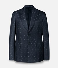 Christopher Kane Heart Single Breasted Tailored Jacket Black