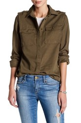 Romeo And Juliet Couture Long Sleeve Pocket Woven Shirt Green