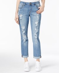 Rachel Roy Ripped Girlfriend Jeans Only At Macy's Medium Wash