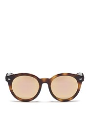 Ray Ban 'Rb4261' Tortoiseshell Acetate Mirror Sunglasses Animal Print Metallic