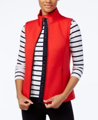 Tommy Hilfiger Mock Neck Vest A Macy's Exclusive Style Red