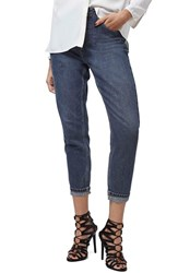 Petite Women's Topshop High Rise Ankle Jeans Navy Blue
