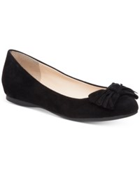 Jessica Simpson Madian Fringed Bow Flats Women's Shoes Black