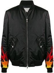 Route Des Garden Embroidered Flame Cuffs Bomber Jacket 60