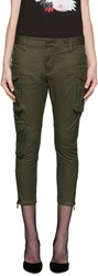 Dsquared Green Army Icon Cargo Trousers