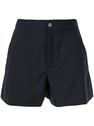 Red Valentino High Waisted Short Shorts Blue