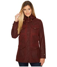 Filson Moorcroft Jacket Burgundy Women's Coat
