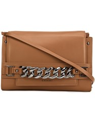 Casadei Chain Detail Shoulder Bag Brown