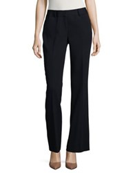 Ivanka Trump Crepe Straight Leg Pants Navy