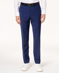 Bar Iii Men's Slim Fit Active Stretch Solid Navy Suit Pants Created For Macy's Blue
