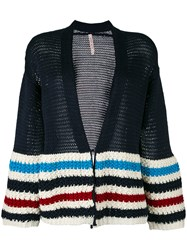 Antonio Marras Striped Cardigan Blue