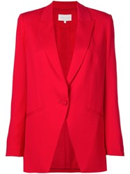 Michelle Mason Boxy Blazer Red