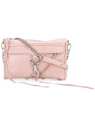 Rebecca Minkoff Chain Strap Shoulder Bag Women Cotton Leather One Size Pink Purple