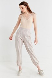 Urban Outfitters Uo Willow Striped Cropped Pant Neutral Multi