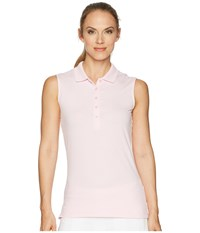 Callaway Opti Dri Micro Hex Sleeveless Polo Pink Lady