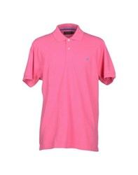 Brooksfield Topwear Polo Shirts Men Fuchsia