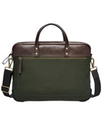 Fossil Men's Haskell Briefcase Green
