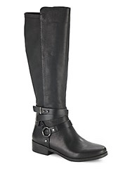 Bcbgeneration Kai Knee High Leather Boots Black