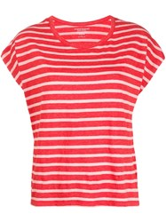 Majestic Filatures Striped T Shirt Red