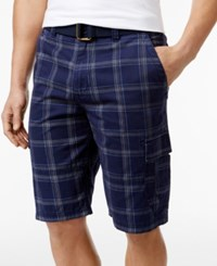 American Rag Men's Nick Plaid Cargo Shorts Only At Macy's Elegant Twist