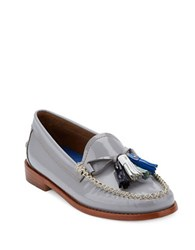 G.H. Bass Willow Patent Leather Tassel Loafers Grey