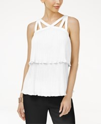 Thalia Sodi Pleated Popover Top Only At Macy's Bright White