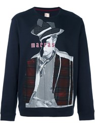 Antonio Marras Patchwork Sweater Blue