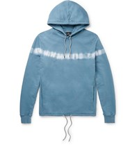 Paul Smith Ps Tie Dyed Loopback Cotton Jersey Hoodie Blue