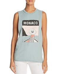 Michelle By Comune Monaco Graphic Muscle Tank 100 Exclusive Iceberg