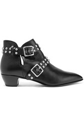 Marc By Marc Jacobs Studded Leather Ankle Boots Black