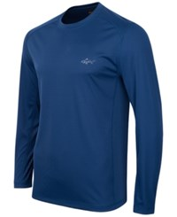 Greg Norman For Tasso Elba Long Sleeve Performance Shirt Only At Macy's Blue Socket