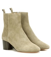 Isabel Marant Deyissa Suede Ankle Boots Green