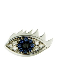 Delfina Delettrez Eyes On Me White Gold Stud Earring Female Multi
