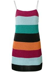 Laneus Striped Knitted Dress Multicolour