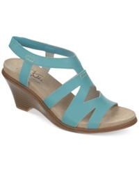 Life Stride Persephone Wedge Sandals Women's Shoes Turquoise