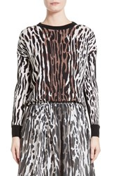 St. John Women's Collection Animal Print Wool Pullover