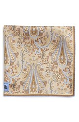 Men's Robert Talbott Paisley Silk Pocket Square