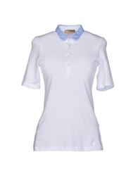 Fay Polo Shirts Dark Blue
