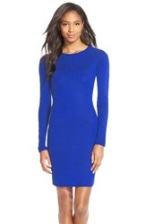 Women's Marc New York Raglan Sleeve Body Con Sweater Dress Electric Blue