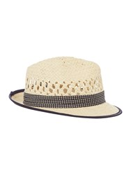 Ted Baker Straw Woven Trilby Hat Natural