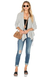 White Warren Convertible Wrap Cardigan Gray
