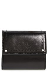 Treasure And Bond Tracy Leather Trifold Wallet Black