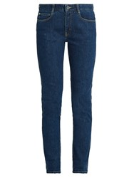Stella Mccartney Mid Rise Skinny Leg Jeans Denim