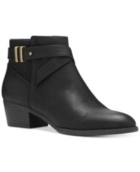 Inc International Concepts Women's Herbii Buckle Booties Only At Macy's Women's Shoes Black